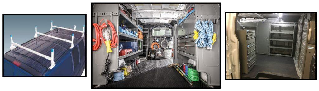 A few van upfitting options.
